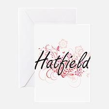 Hatfield surname artistic design wi Greeting Cards