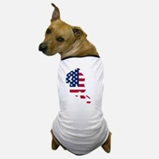 Hockey Player American Flag Dog T-Shirt