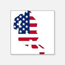 Hockey Player American Flag Sticker