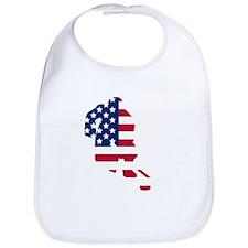 Hockey Player American Flag Bib