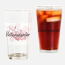 Veterinarian Artistic Job Design wi Drinking Glass