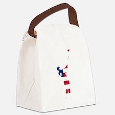 Golfer American Flag Canvas Lunch Bag
