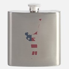 Golfer American Flag Flask