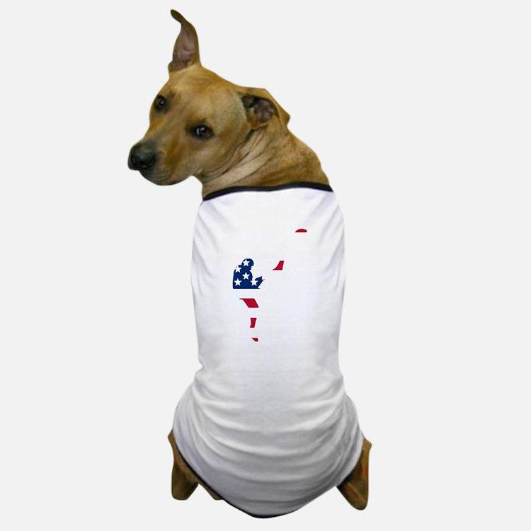 Football Punter American Flag Dog T-Shirt