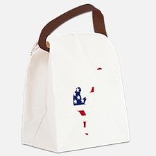 Football Punter American Flag Canvas Lunch Bag