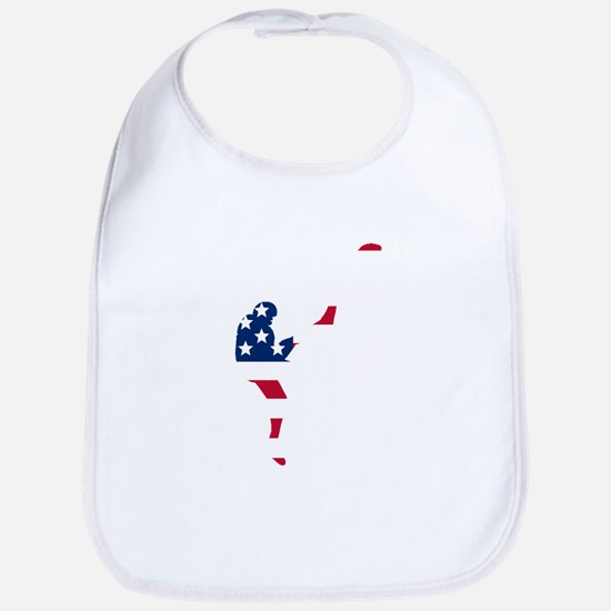 Football Punter American Flag Bib