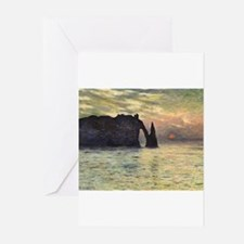 Cliff, Etretat, Sunset by Claude Mon Greeting Card