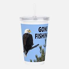Gone Fishing Acrylic Double-wall Tumbler