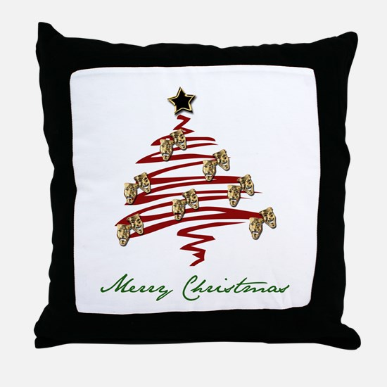Drama Tree Throw Pillow
