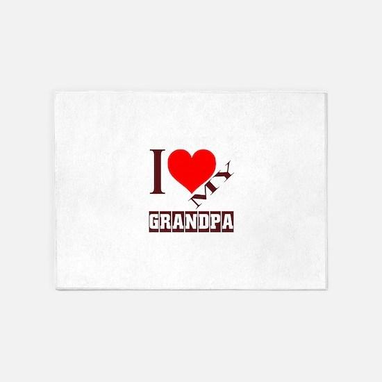 I Love My GrandPa 5'x7'Area Rug