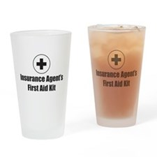 Insurance Agent Drinking Glass