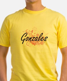 Gonzales surname artistic design with Flow T-Shirt