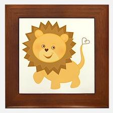 Baby Lion Framed Tile