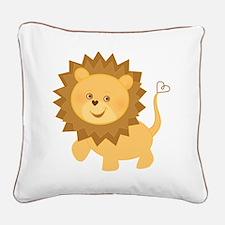 Baby Lion Square Canvas Pillow