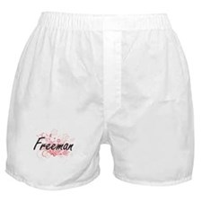 Freeman surname artistic design with Boxer Shorts