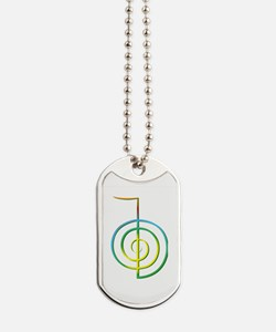 Cute Abstract spiral Dog Tags