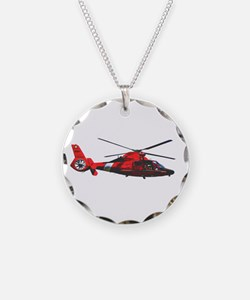USCG helicopter Necklace