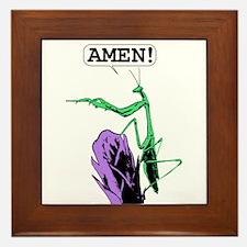 Colored Praying Mantis Praying Framed Tile