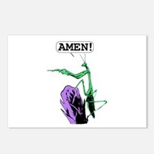 Colored Praying Mantis Pr Postcards (Package of 8)