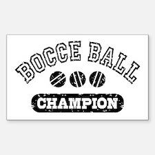 Bocce Ball Champion Sticker (Rectangle)
