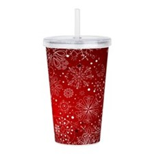 SNOWFLAKES (RED) Acrylic Double-wall Tumbler
