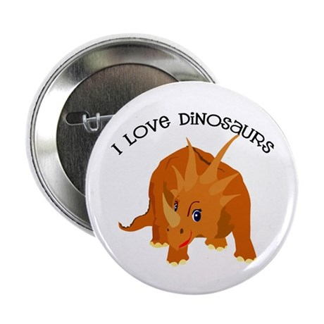 I Love Dinosaurs! Button