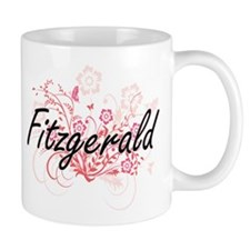 Fitzgerald surname artistic design with Flowe Mugs