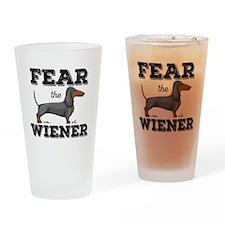 Fear The Wiener Drinking Glass