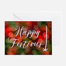 Happy Festivas Bokeh Lights Greeting Cards