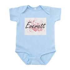 Everett surname artistic design with Flo Body Suit