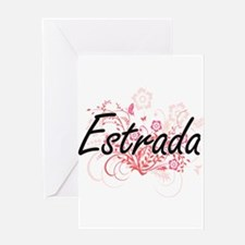 Estrada surname artistic design wit Greeting Cards