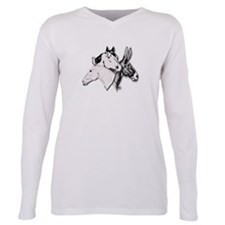 Cute Donkeys mules Plus Size Long Sleeve Tee