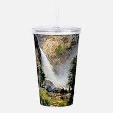Yosemite-CascadeFalls, Acrylic Double-wall Tumbler