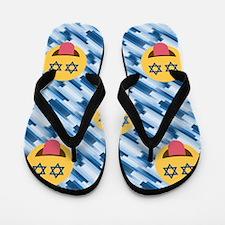 hanukkah chanukkah emoji Flip Flops