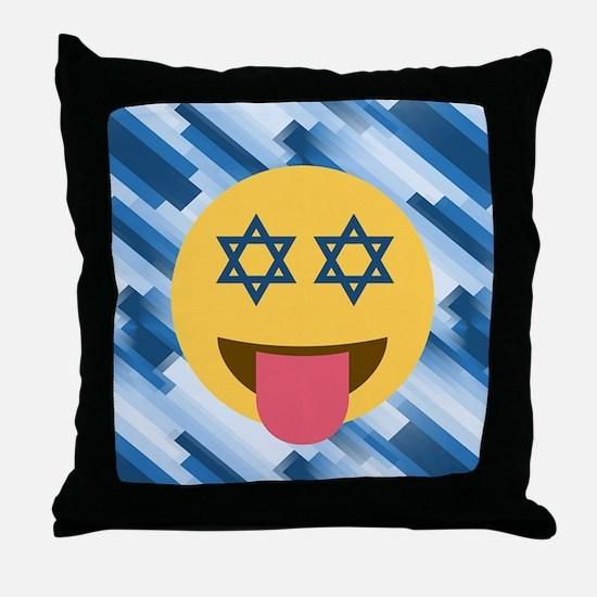 hanukkah chanukkah emoji Throw Pillow