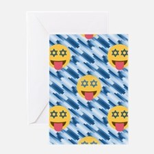 hanukkah chanukkah emoji Greeting Cards