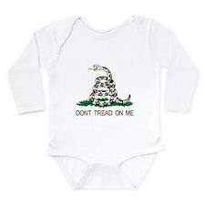 Funny Dont tread me Long Sleeve Infant Bodysuit