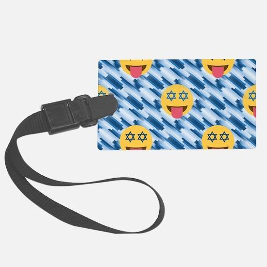 hanukkah chanukkah emoji Luggage Tag