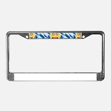 hanukkah chanukkah emoji License Plate Frame