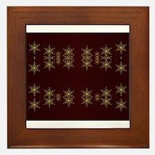 golden star Framed Tile