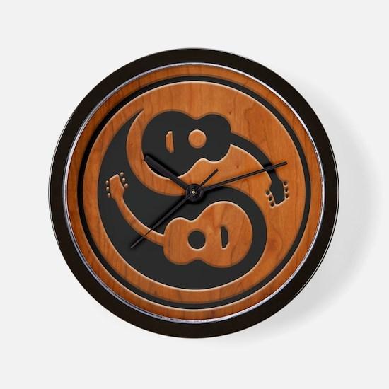 Wood Guitar Yang Wall Clock