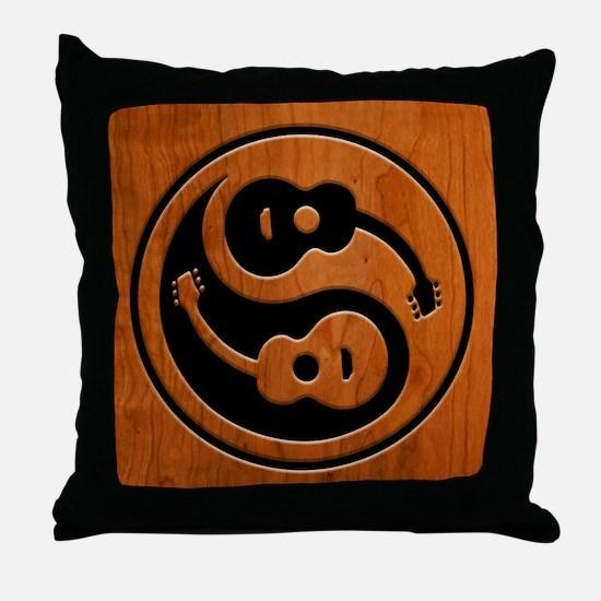 Wood Guitar Yang Throw Pillow