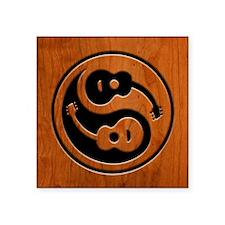"Wood Guitar Yang Square Sticker 3"" x 3"""