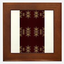 golden christmas star Framed Tile