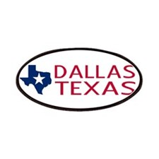 Dallas, Texas with State Shape & Star Patch