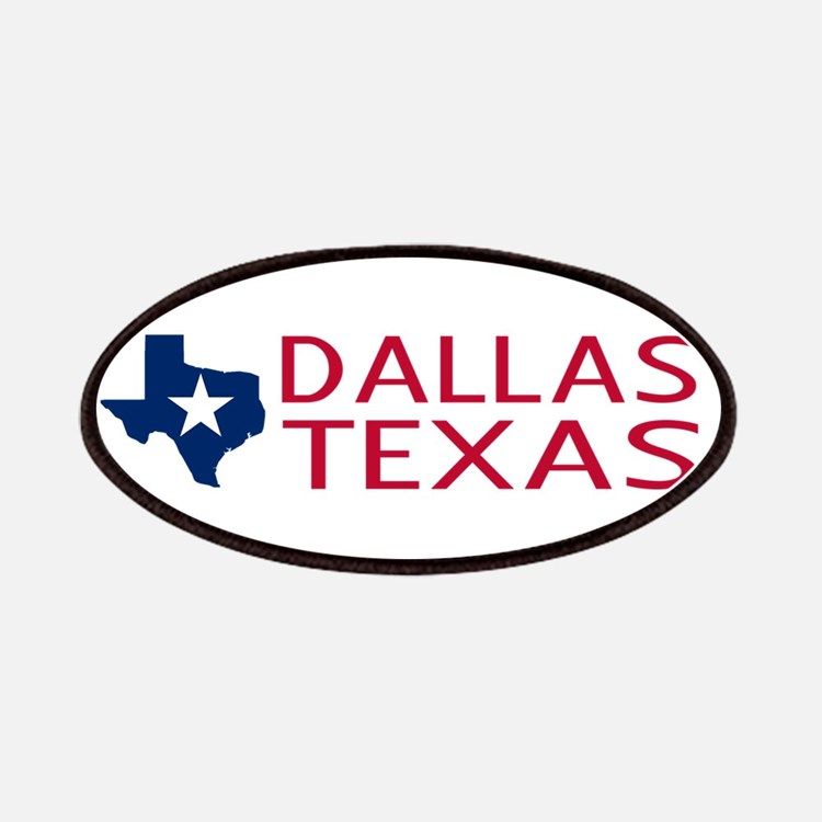 Texas: Dallas (State Shape & Star) Patch