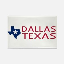 Dallas, Texas with Stat Rectangle Magnet (10 pack)