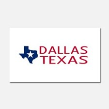 Texas: Dallas (State Shape & St Car Magnet 20 x 12