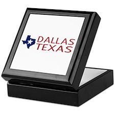 Dallas, Texas with State Shape & Star Keepsake Box