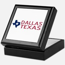 Dallas, Texas with State Shape & Star Keepsake Box